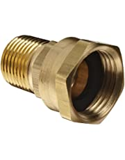 "Dixon 504-1208 Brass Fitting, Adapter, GHT Female Swivel x 1/2"" NPTF Male"
