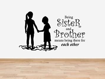 Kids23 Wandsticker Vinyl Motiv Bruder Und Schwester