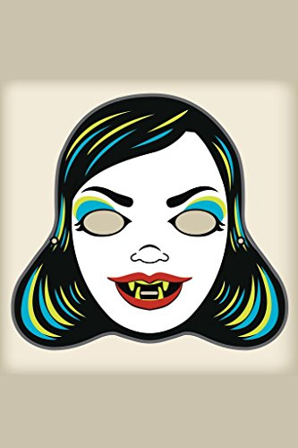 Laminated Vampire Mistress Vintage Mask Decoration or Halloween Costume Cutout Sign Poster 12x18 inch -