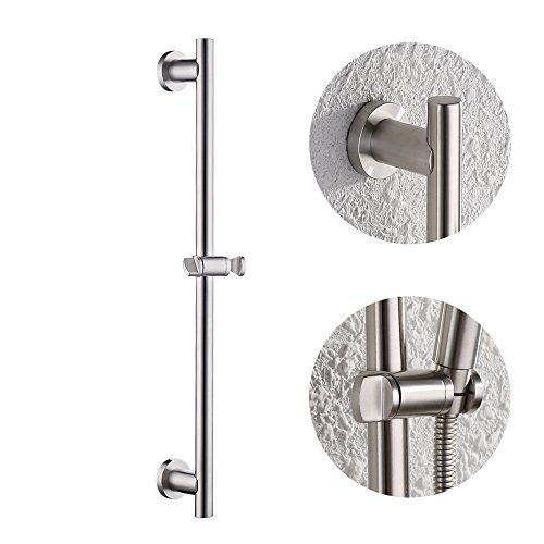 KES Bathroom Shower Slide Bar with Adjustable Handheld Showerhead Holder Wall Mount, Brushed SUS 304 Stainless Steel, (Personal Handheld Showerhead)