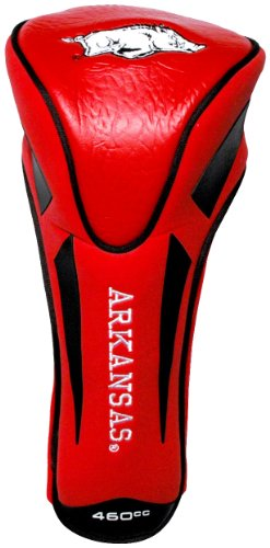 Arkansas Headcover Razorbacks - Team Golf NCAA Arkansas Razorbacks Golf Club Single Apex Driver Headcover, Fits All Oversized Clubs, Truly Sleek Design