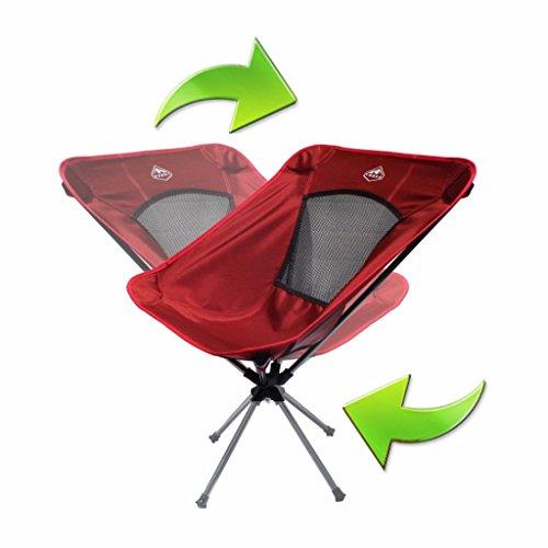 Trekk Ultralight Compact Folding Swivel Camping Chair (Campfire Red)