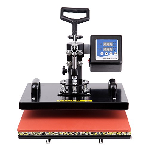 Ridgeyard 15.6 inch x 12.4 inch 1000W 360 Degree Swing Away Digital Heat Press Photo T-shirt Sublimation Transfer Machine 110V by Ridgeyard