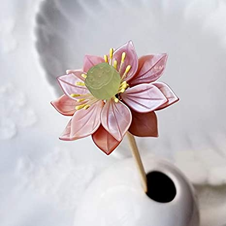 Lotus Tassel Hair Stick Pin Accessory for Kimono Hanfu Party Cosplay