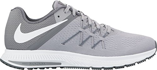 Nike Men's Zoom Winflo 3 Running Shoes, Black, One Size Wolf Grey/White-cool Grey-white