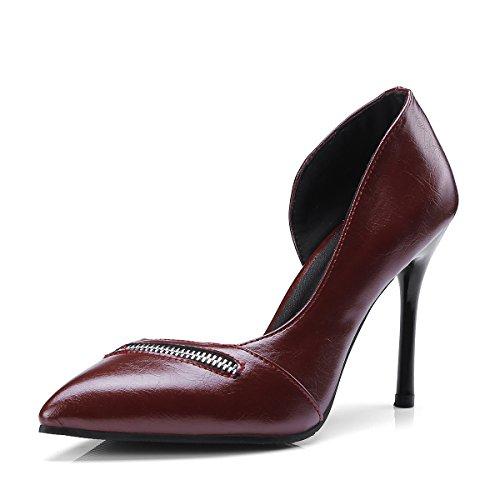 Wine avec Heels Pure Red Fait la Bien High Sandales Carrière Femmes a Très Couleur qXwaOHa