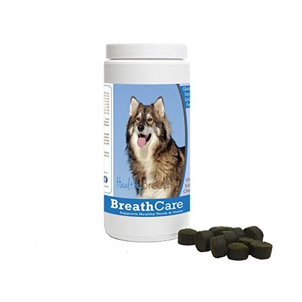 Healthy Breeds Breath Care Soft Chews - Vet Formulated to Freshen Breath and Support Healthy Teeth & Gums - Over 200 Breeds - Grain Free - 100 Chews 1