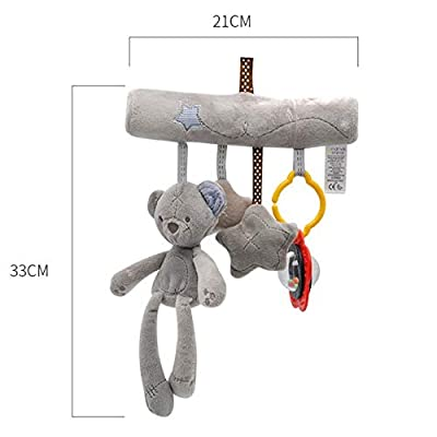 MAJINCGJ Newborn Baby Toy Crib Bell Music Pendant Toy Cloth Newborn Stroller Rattle Safety Seat Comfort Plush Doll Bear : Baby