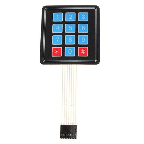SODIAL (R) New 4 x3 12 Matrice Tasto tastiera Interruttore matrice membrana tastiera per Arduino