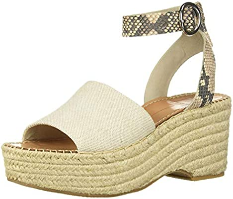 92ef7f83ee5 Dolce Vita Women's Lesly Wedge Sandal Natural Fabric 7.5 M US ...