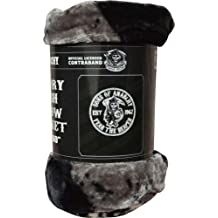 "Sons Of Anarchy 50"" x 60"" Plush Throw Blanket (SAMCRO Grim Reaper Logo)"
