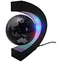 Eplze C Shape Floating Globe with LED Lights Magnetic Field Levitation Education Globe for Home Office Decoration