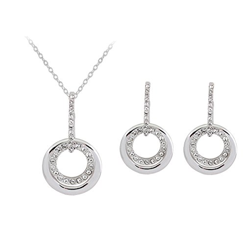 ER-06167C2 Alloy Trend Crystal Women Necklace Earrings Set (Hip Hop Dance Costumes For Teenagers)