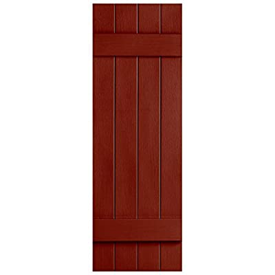 "Alpha VNBB4J39RD 4 Board x 39"" Board N Batten Joined Shutter, Red by Alpha Systems LLC (Drop Ship)"