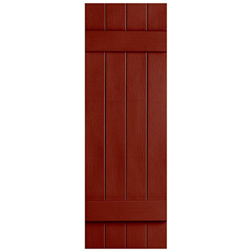 Alpha Vnbb4j39rd 4 Board X 39 Board N Batten Joined Shutter Red Budget Window Blinds