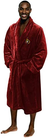 Northwest Officially Licensed NHL Men's Silk Touch Lounge Robe, Large/X-Large, Multi C
