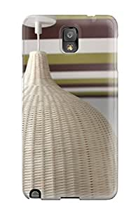 1238315K79615565 Tpu Shockproof Scratcheproof Striped Ceiling Detail And Wicker Pendant Light Hard Case Cover For Galaxy Note 3