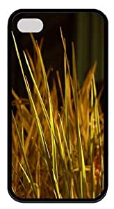 iPhone 4s Case and Cover - Grass Blades TPU Silicone Case Cover for iPhone 4 and iPhone 4s - Black
