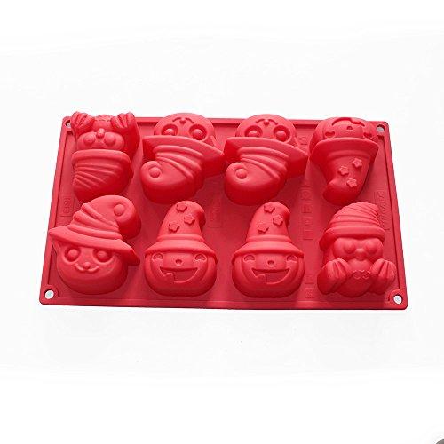 X-Haibei Halloween Theme Witch Lotion Bar Soap Making Mold Cake Jello Pan Silicone