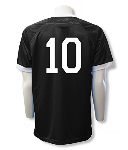 Soccer team jersey customized with your player number - size Adult M - color Black