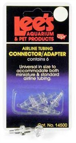 Lees Products Pet Airline (Lee's Pet Products ALE14500 6-Card Airline Connectors for Aquarium Pumps)