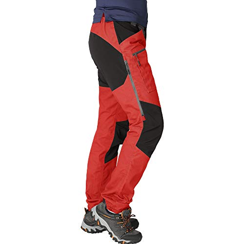 ZOOMHILL Mens Pro Hiking Stretch Pants Cargo Trouser Water-Resistant Tactical Outdoor Working Pants (Aurora Red, XXXL)