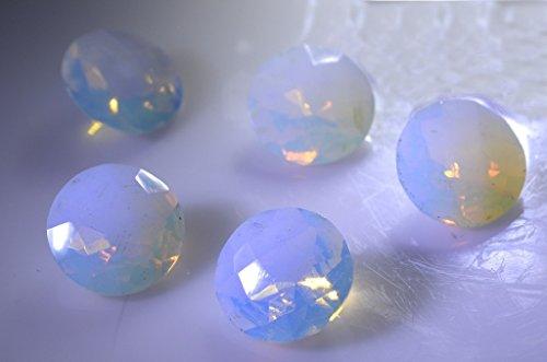 synthétiques zircone cubique opale de feu cz pierres précieuses en vrac 1 morceaux 14 x 14 mm rondes blanches pierres précieuses facettes