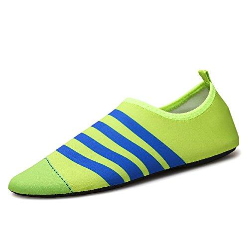 de el descalzo los al la cintas antideslizante en Lucdespo calzado deportivos fluorescente aire playa orchid de buceo piel correr la zapatos Natación cuidado verde zapatos libre SK5 qxv0X