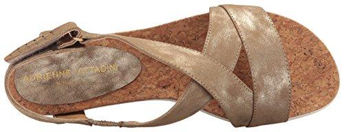 Adrienne Vittadini Womens Celie Flat Sandal Taupe