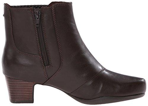 Leather Clarks US 7 Boot Rosalyn Lara W Brown Dark RRxP4wBq