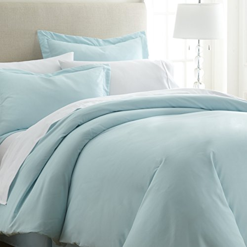 Cheap  ienjoy Home Hotel Collection Soft Brushed Microfiber Duver Cover Set, Twin, Aqua