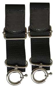 Candide 400651 POU 7 - Enganches de sujeción con velcro universales, para carrito o silla de paseo