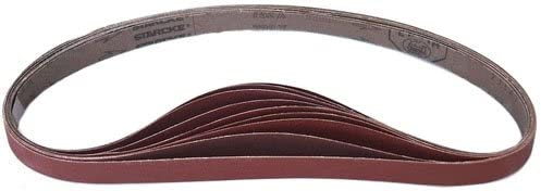 "1-1/8"" x 21"" Sanding Belts AO Closed Coat (30 Pack, 24 grit)"