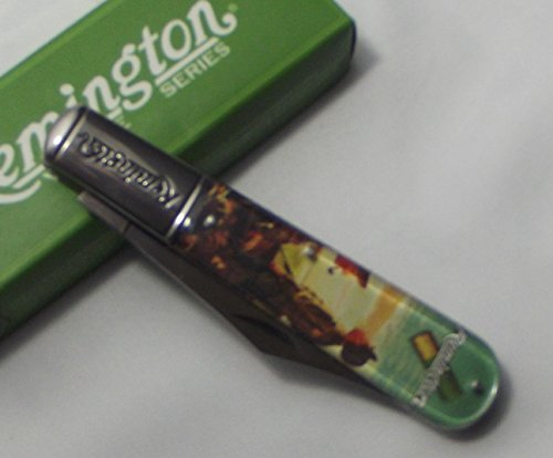 Remington Knives 17613 Vintage Series - Gazing at Geese Large Barlow Knife with Clear Acrylic Handles