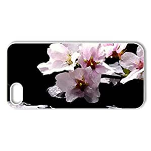 Flower Crystal Spring Flower - Case Cover for iPhone 5 and 5S (Flowers Series, Watercolor style, White)