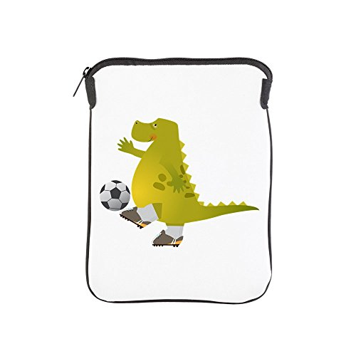 iPad 1 2 3 4 Air II Sleeve Case (2-Sided) Dinosaur Playing Soccer by Truly Teague