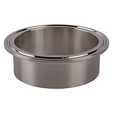 Weld 3 inch x 28.6 mm Glacier Tanks - 2 Pack Tri Clamp Ferrule Stainless Steel SS304 // 3A