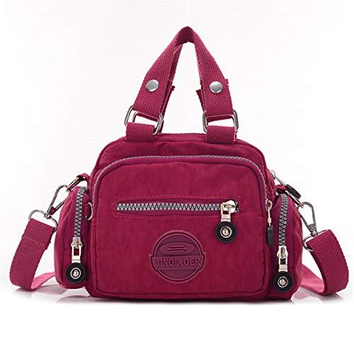 Chou couleur sac en femmes Croix Mini Sac et l'eau Red Corps filles à nylon à à bandoulière résistant massif pour main Petit tzd7qw0t