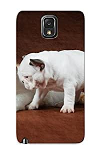 Mooseynmv Case Cover For Galaxy Note 3 - Retailer Packaging Cat Puppy Bulldog Cats Dogs Dog Protective Case
