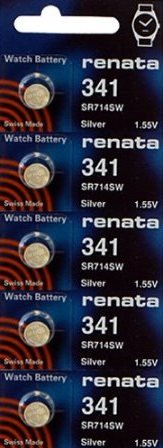 341 Watch battery - Strip of 5 Batteries