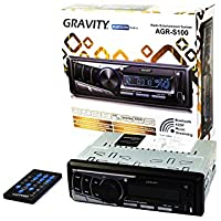 GRAVITY AGR-S100 Car Radio Entertainment System - Built-in Bluetooth/SD/USB/Front Aux - Mp3 Playable