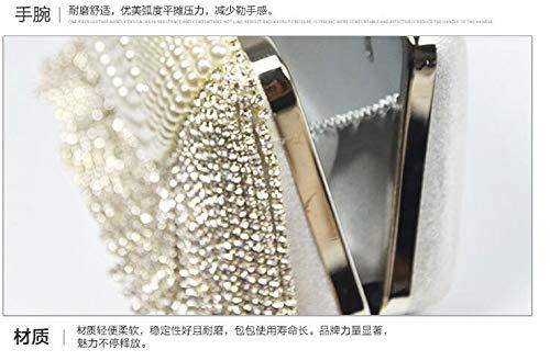 Female Bag Hand Square Dinner Single Mini Small Dress Juzhijia Pearl Diamond Shoulder Bag Chain held Luxurious Wedding xYTEpqWwBg