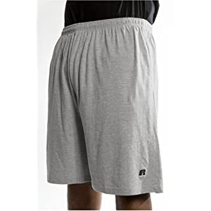 Russell Athletic Men's Big & Tall Cotton Jersey Pull-On Short, Heather Grey, 3X