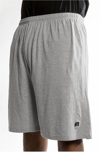 Russell Athletic Men's Big & Tall Cotton Jersey Pull-On Short, Heather Grey, 5X (Athletic Russell Shorts Jersey)