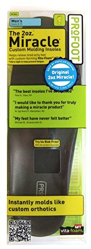 PROFOOT Original Miracle Insole, Men's 8-13, 1 Pair (Pack of 6) by Profoot