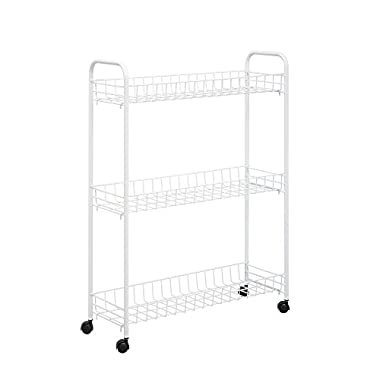 Honey-Can-Do CRT-01149 3-Tier Laundry Cart, White