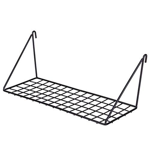 Kufox Straight Flat Display Shelf For Wall Grid Panel,Wire Hanging Organizer Rack Bin Storage Mountable,11.8