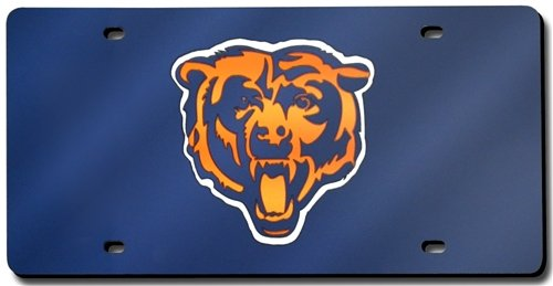 Chicago Bears Laser Cut Navy License Plate (License Laser Plate Bears Chicago)