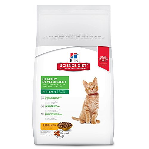 Hill's Science Diet Kitten Food, Healthy Development Chicken Recipe Dry Cat Food, 7 lb Bag ()
