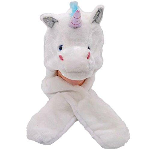 Silver Fever Plush Soft Animal Beanie Hat (Unicorn Rainbow - For Hatimals Kids